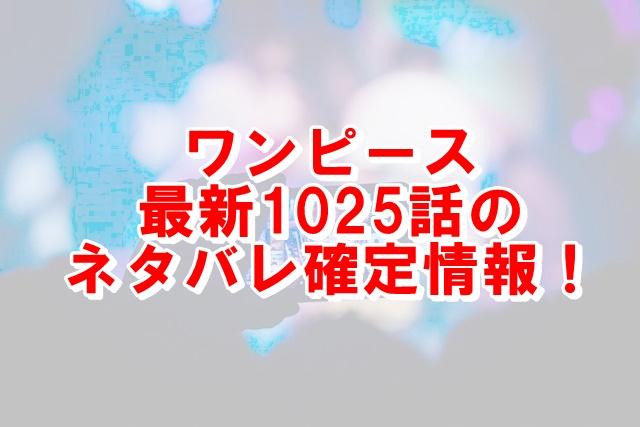 ワンピース1025話ネタバレ最新話の考察